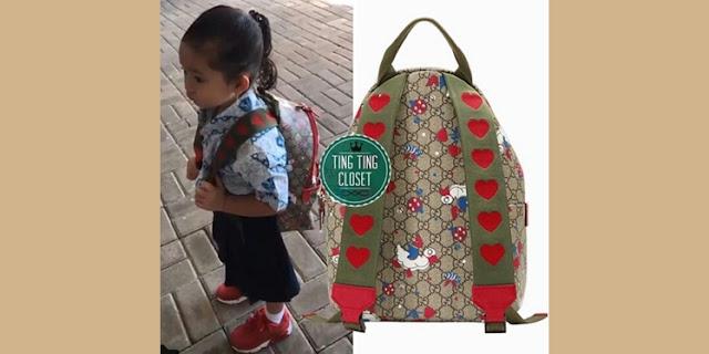 Warga Internet Terkaget-kaget!! Lihat Tas Sekolah Anak Ayu Ting Ting yang Harganya Itu Lhooh..
