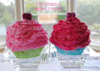 cupcake in carta crespa