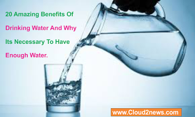 20 Amazing Benefits Of Drinking Water , Enough Water Every Day.