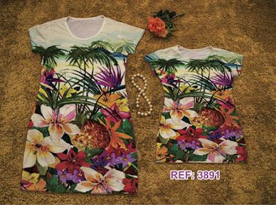 Vestidos Tal Mãe Tal Filha estampado floral