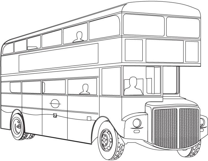 mewarnai gambar bus