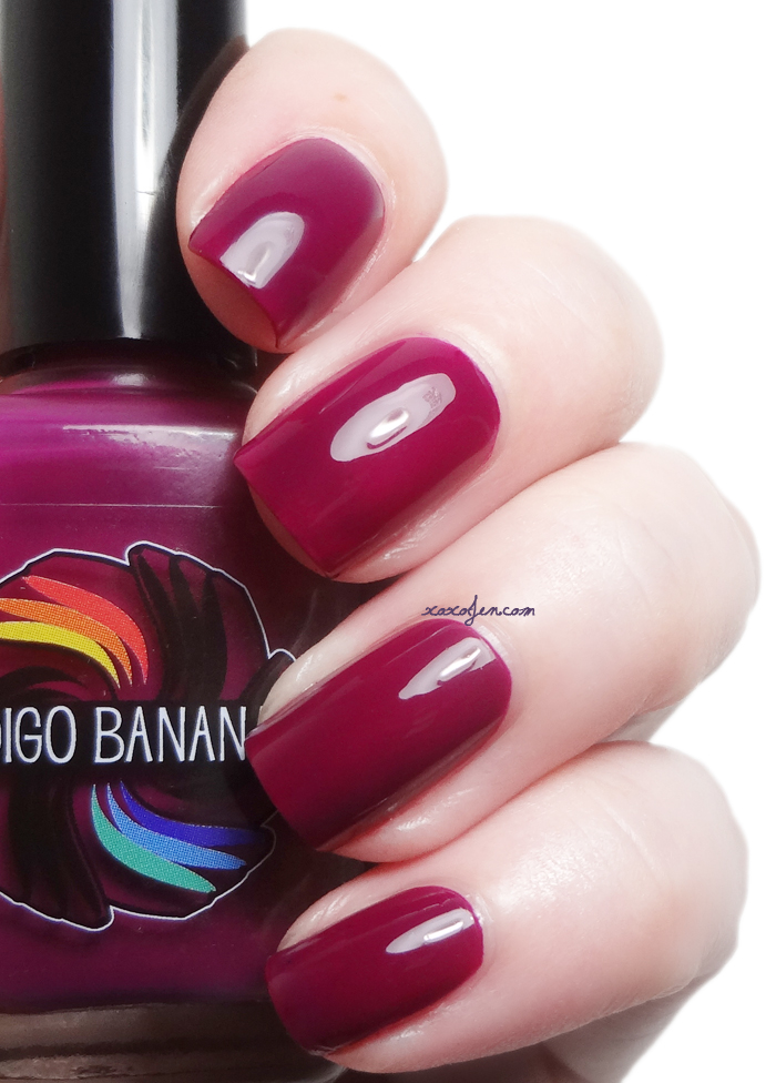 xoxoJen's swatch of Indigo Bananas Dark Side of Maroon