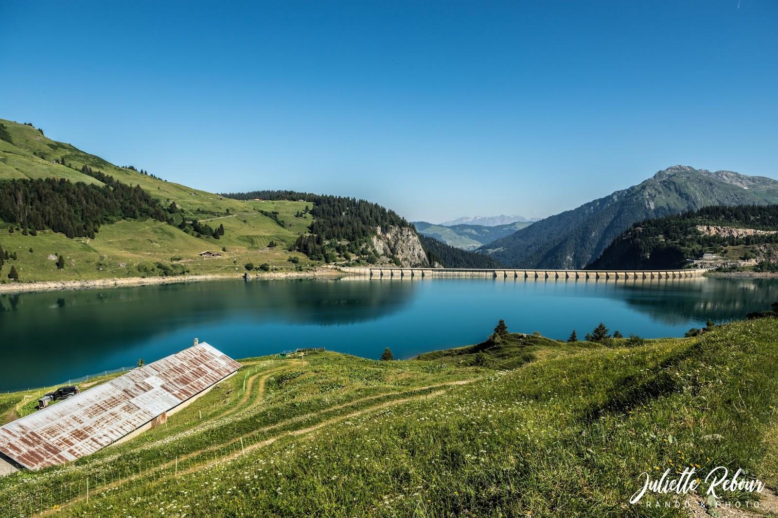 Randonnée en Savoie, lac de Roselend