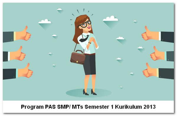 Program PAS SMP/ MTs Semester 1 Kurikulum 2013