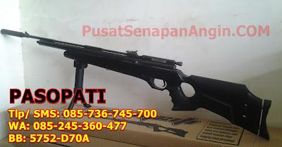 Jual senapan PCP Pasopati murah lengkap dengan peredam