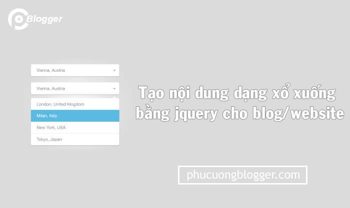 Cấu trúc tạo nội dung dạng xổ xuống đơn giản bằng jquery cho blog/website