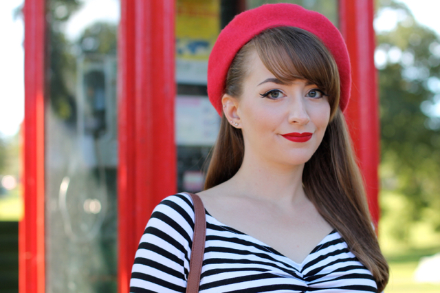 PUG stripey jailbird top and beret