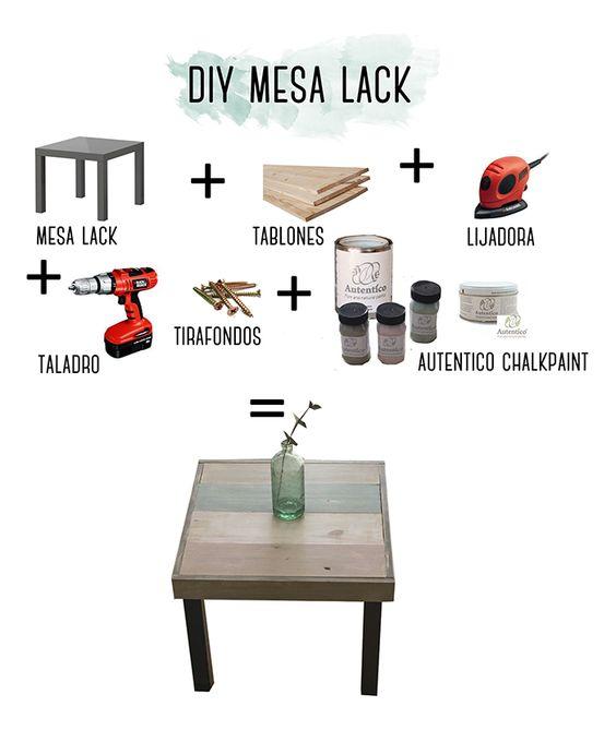 All in one ideas diy mesa lack ikea - Ikea mesa lack blanca ...