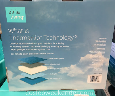 Costco 1066666 - Aria Living ThermaFlip Travel Pillow: great for long flights