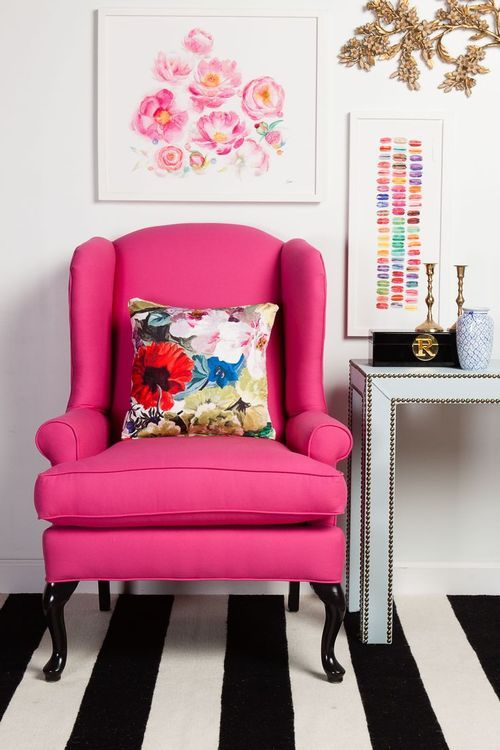 Eye For Design: Decorating With The Wingback Chair......It\'s Trendy ...