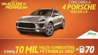 Cadastrar Promoção Acelere no Premmia Concorra 4 Porsche e Vale Combustível