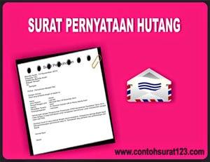 Gambar Contoh Surat Pernyataan Hutang Terbaru 2015