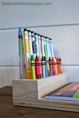 diy portable crayon holder lap desk