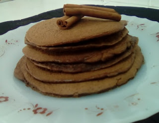 Panquecas de chocolate low carb