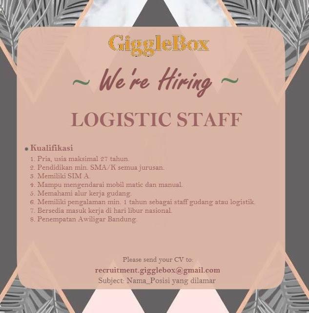 Lowongan Kerja Logistic Staff GiggleBox