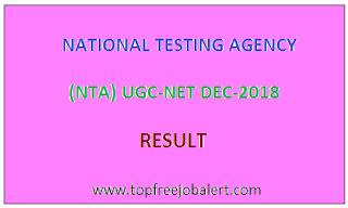 UGC NET DEC-2018 RESULT