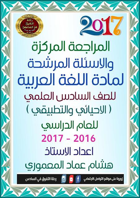 المراجعة المركزة في الأدب والنصوص للأستاذ هشام عماد المعموري 2017