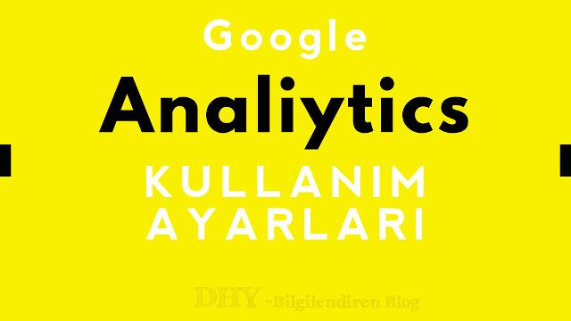 google-analiytics-ayarları