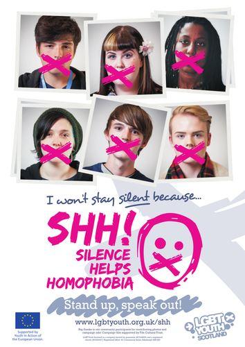 El silencio ayuda a la homofobia, film