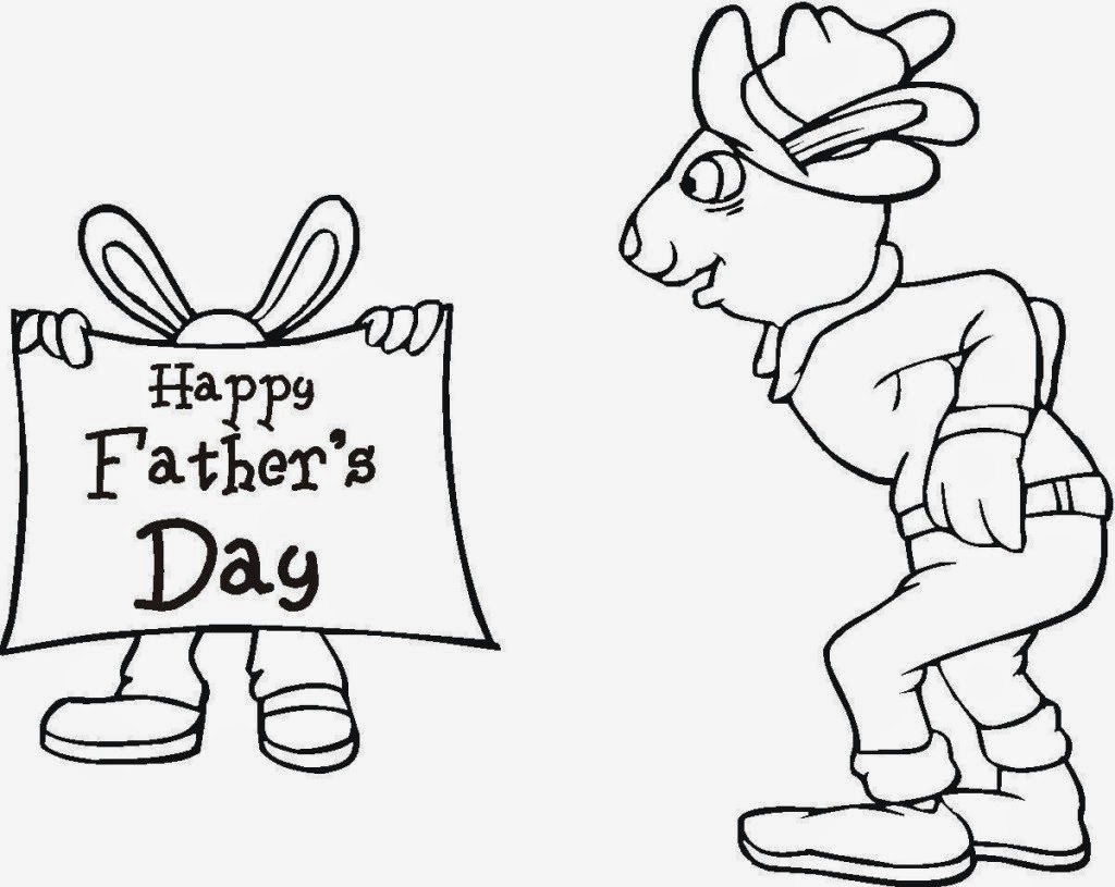 Father Day To Draw Print Color Cut And Paste
