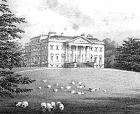 Claremont from Select Illustrations of the County of Surrey by GF Prosser (1828)