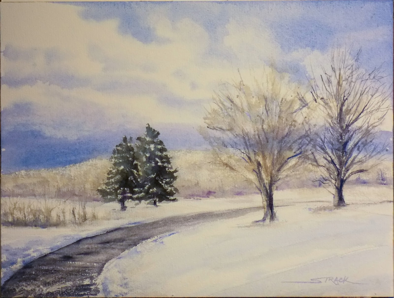 Faux Paint Techniques Annie Strack News Painting Snowy Landscapes In Watercolor