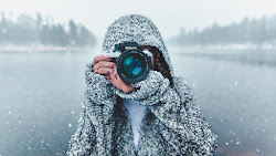 Photographer with Nikon Camera 4K