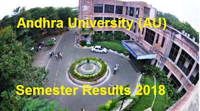 AU Degree Semester Results 2018, Manabadi AU 1st 2nd 3rd 4th Sem Results 2018