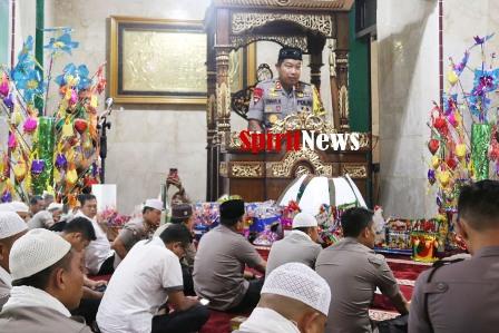 Kapolda Sambutan Disaksikan Ratusan Polisi di Maulid Nabi Muhammad di Mapolda Sulsel