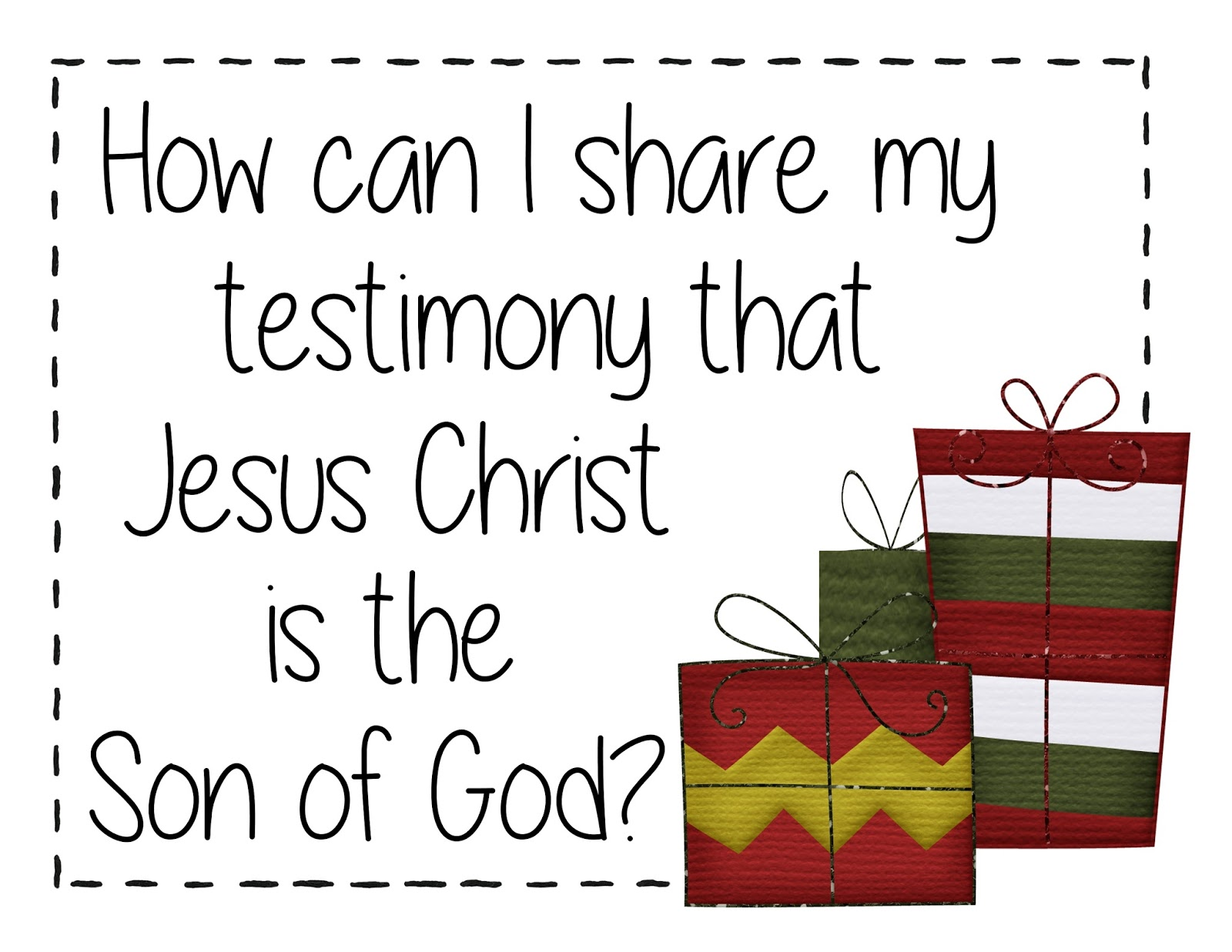 Tender Mercies Along The Journey Christmas How Can I Share My Testimony That Jesus Christ Is