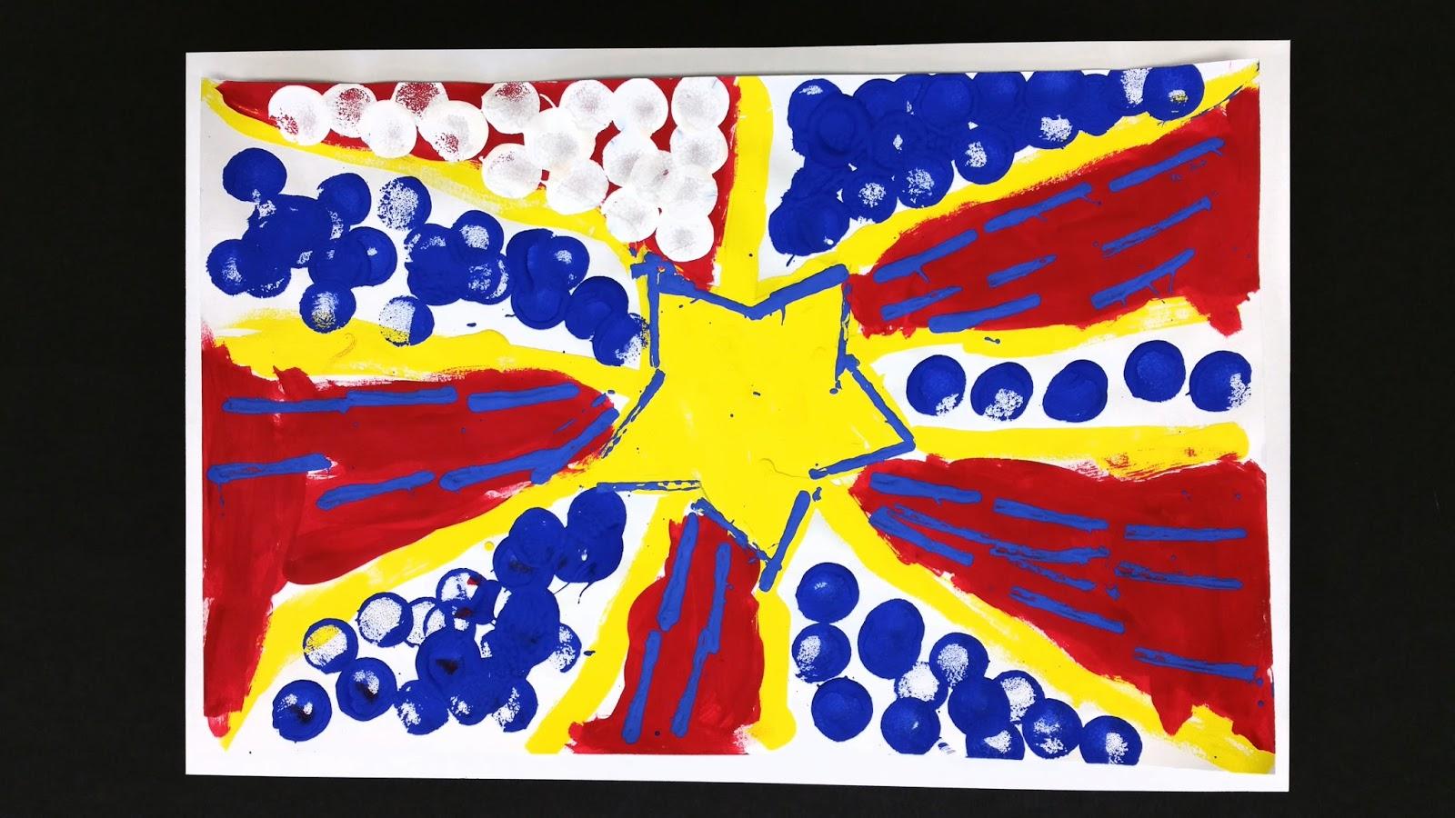 Kindergarten Lichtensteins In Primary Colors