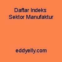 Daftar Indeks Sektor Manufaktur