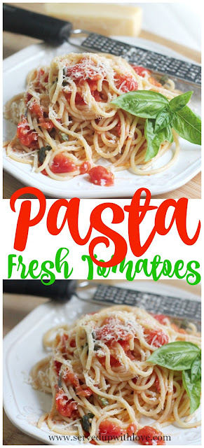 Pasta-with-fresh-tomatoes