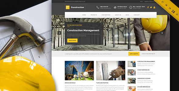 Responsive Consturction WordPress Template