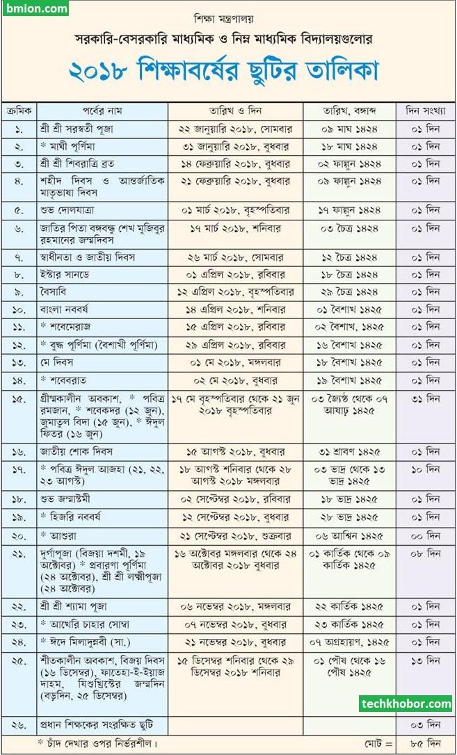 ২০১৮-সালের-মাধ্যমিক-ও-নিম্ন-মাধ্যমিক-স্কুলের-ছুটির-তালিকা-বাংলাদেশ