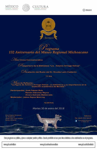 132nd Anniversary of the Michoacan Regional Museum