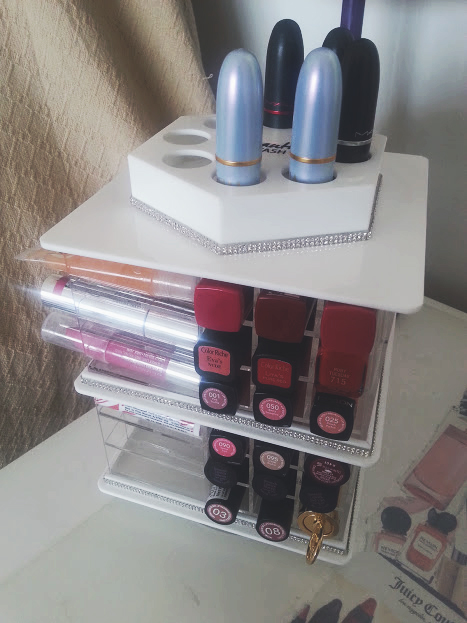 beauty stash lipstick tower