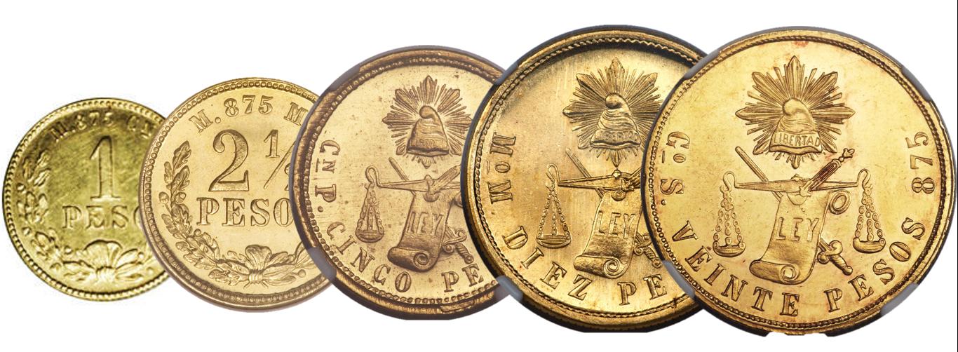 Las Monedas De Oro De La Segunda República Mexicana