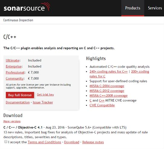 SonarQube Plugin C/C++