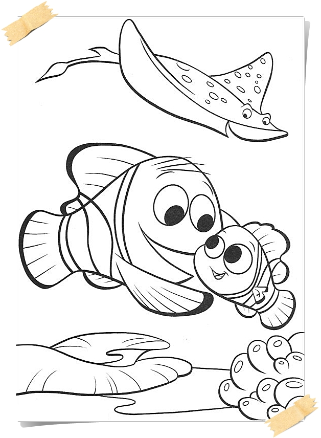 Disney Nemo coloring pages-Printable - Coloring Page