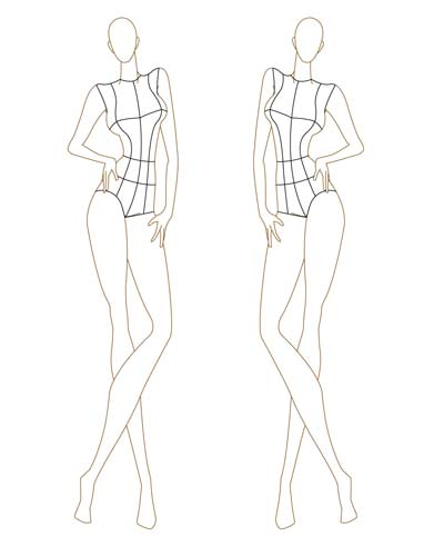Elvis Fernandes Fashion Sketch Esbolço de moda