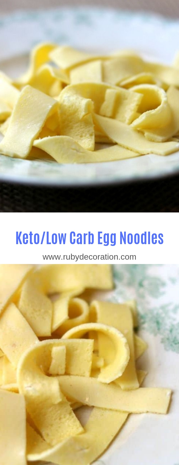 Keto/Low Carb Egg Noodles