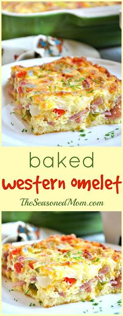 An Easy Baked Western Omelet