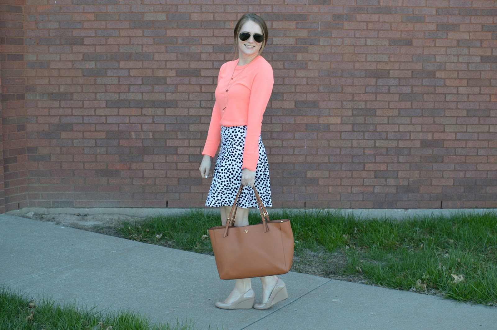 how to style a spring sweater | work outfit ideas for spring | a memory of us