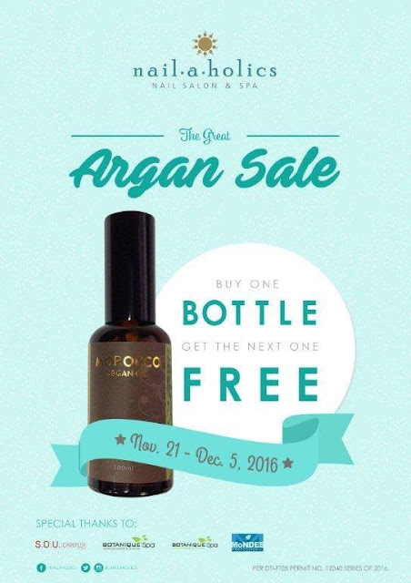 Nailaholics Launches The Great Morocco Argan Oil Sale 2016!