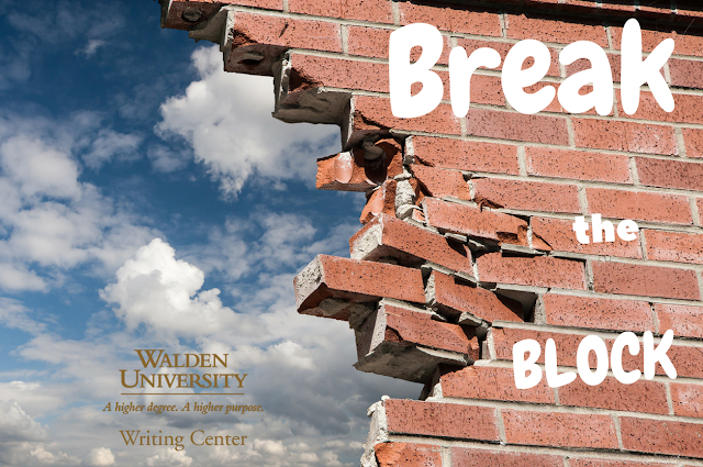 Break the Block: Smash through the wall of writer's block