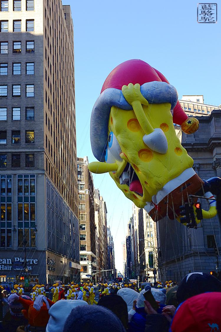 Le Chameau Bleu -Blog Voyage New York City -  Bob l'éponge à la Parade de Thanksgiving de New York