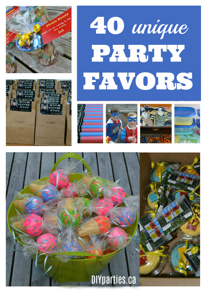 that no one likes a bag full of junk so today i am sharing 40 of my favourite unique and inexpensive party favor ideas you are going to love them all