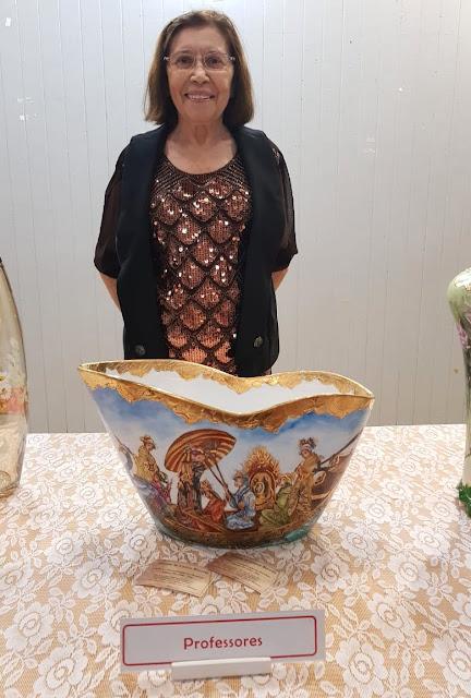 Exposição pintura em Porcelana