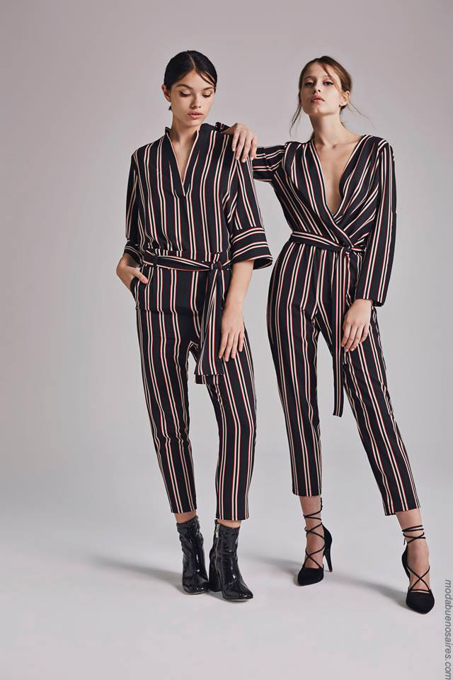 Moda otoño invierno 2019 ropa de mujer elegante y femenina. Blusas, pantalones y monos otoño invierno 2019.